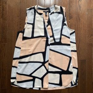 Alfani Sleeveless Blouse with Pink Abstract Print